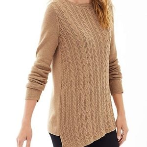 Sweaters - J. Jill Petite Asymmetrical Cable Pullover Sweater